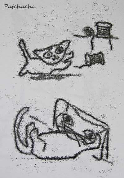 """Impression """"chats"""" sur papier"""