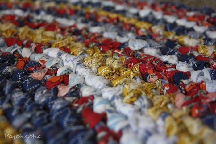 tapis en tissus recyclés