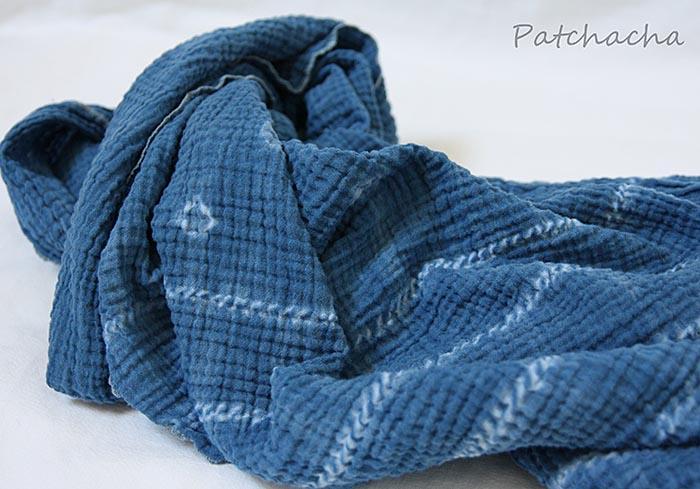 foulard indigo