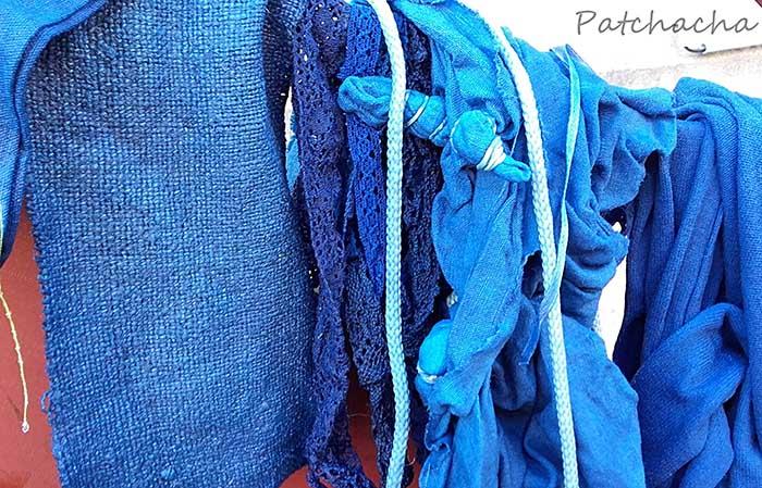 tissus bleu indigo