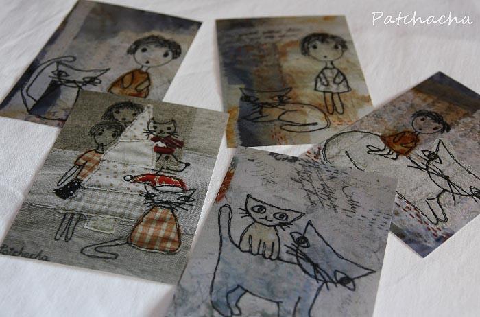 cartes postales chats