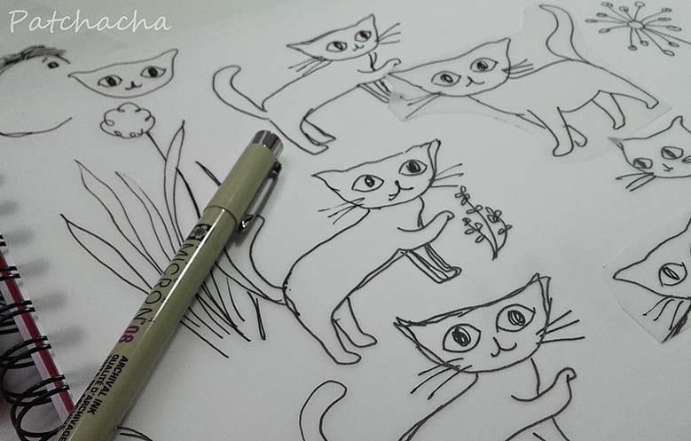 dessin de chats