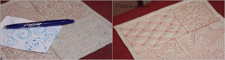 dessiner motif sur tissu