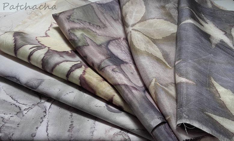 foulard en soie ecoprint