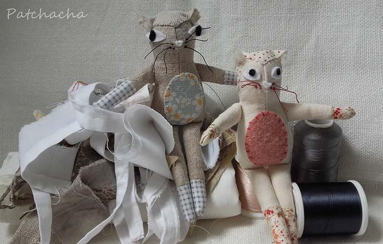 chats en tissus