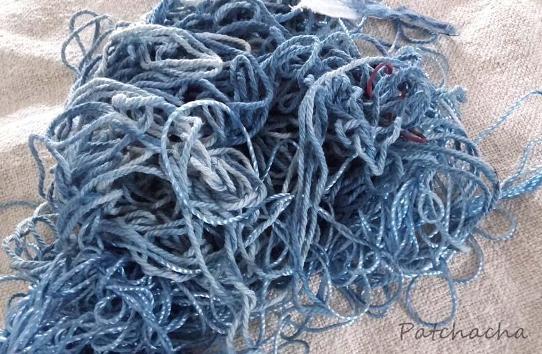 cordelettes bleues
