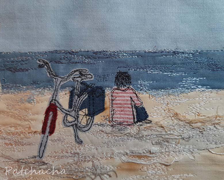 tableau textile mer