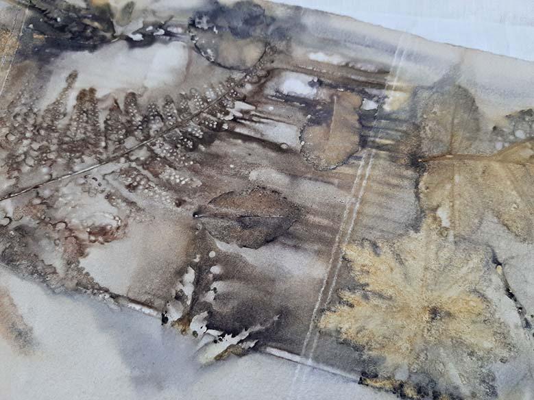 ecoprint sur papier