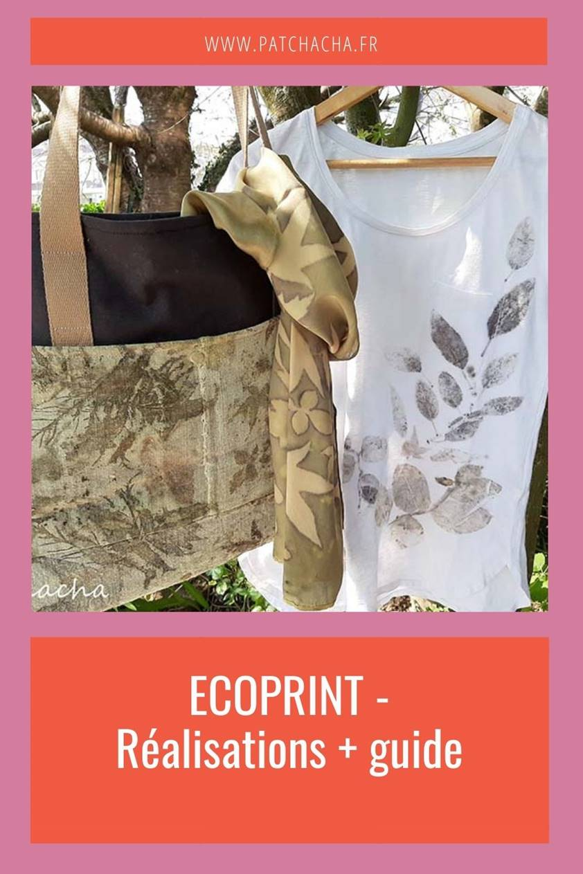 Sacs, T-shirts… et guide ecoprint