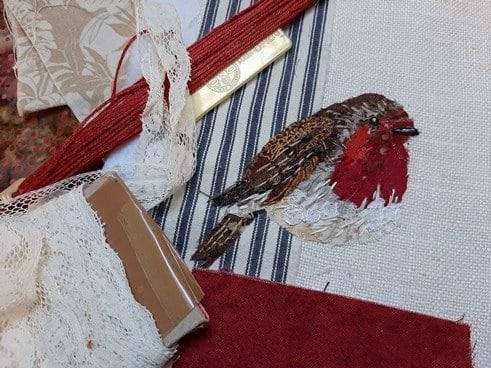 broderie oiseau