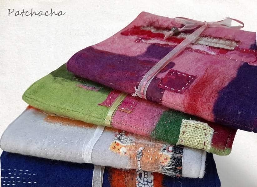 carnet laine feutrée