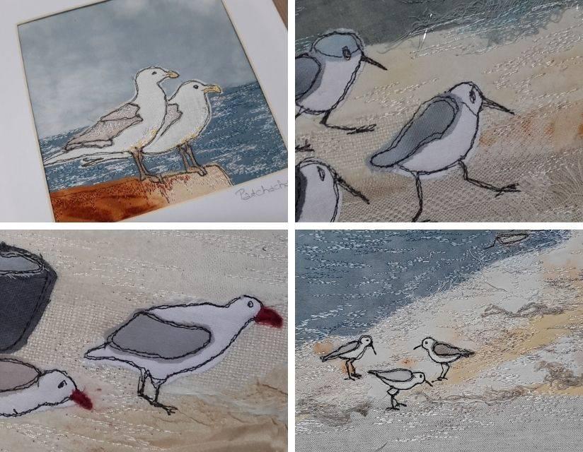 broderie oiseaux