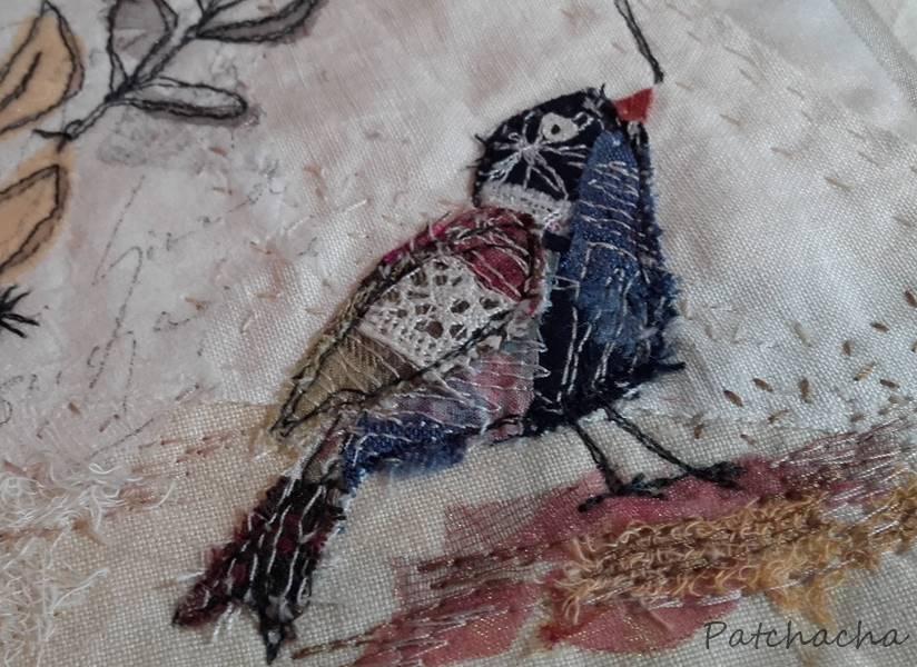 oiseau patchwork