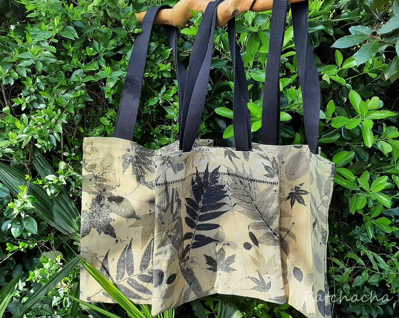 tote bags ecoprint
