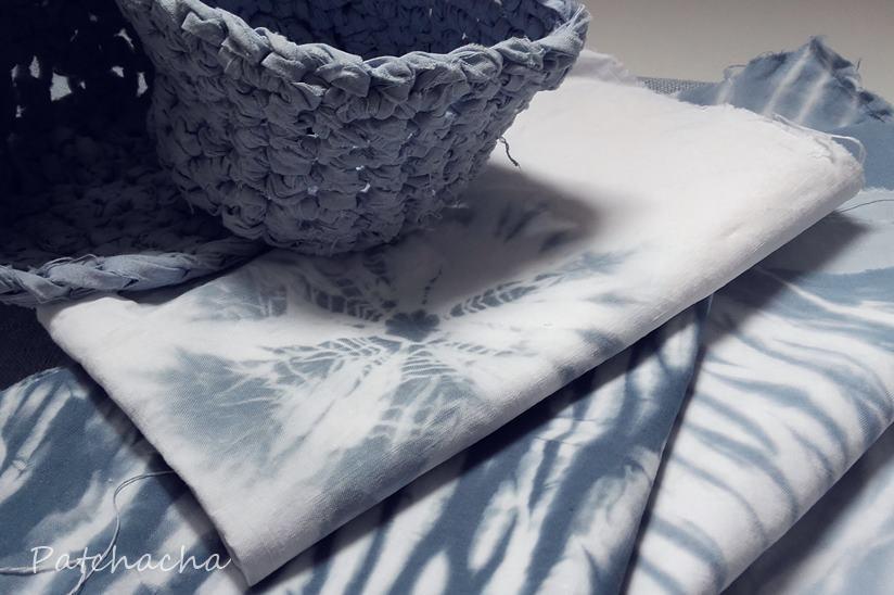colorer ses tissus en bleu