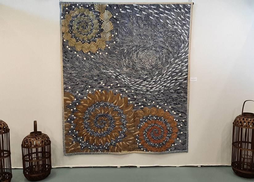 grand panneau textile